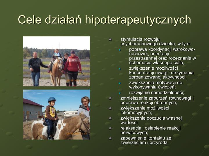 Cele działań hipoterapeutycznych