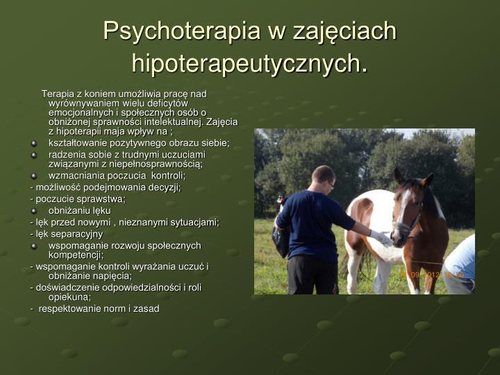 Psychoterapia w zajęciach hipoterapeutycznych