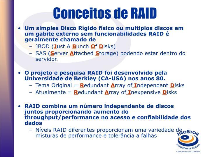 Conceitos de RAID