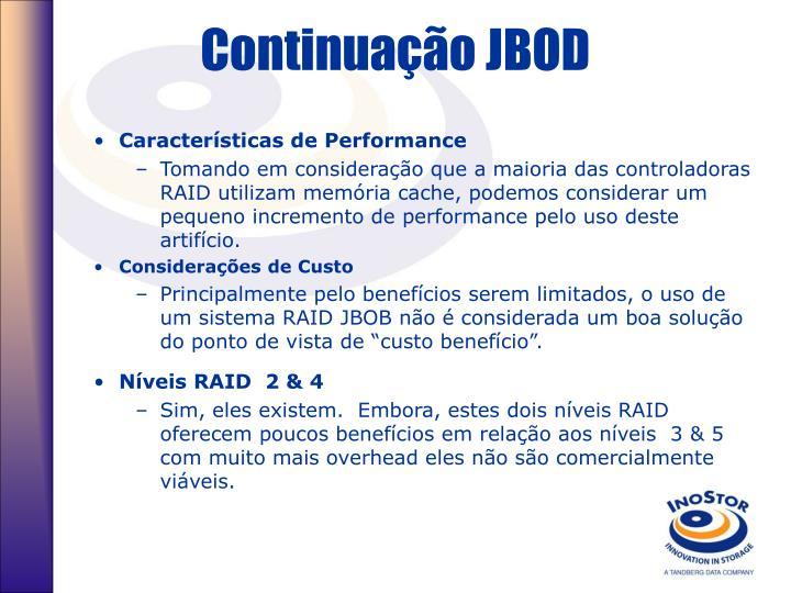 Continuação JBOD