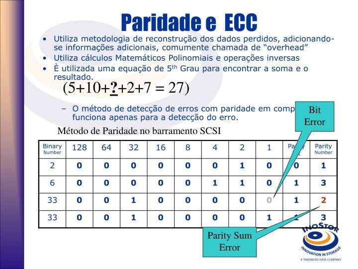 Paridade e  ECC