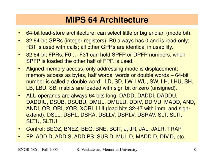 MIPS 64 Architecture