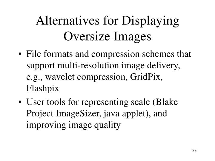 Alternatives for Displaying Oversize Images