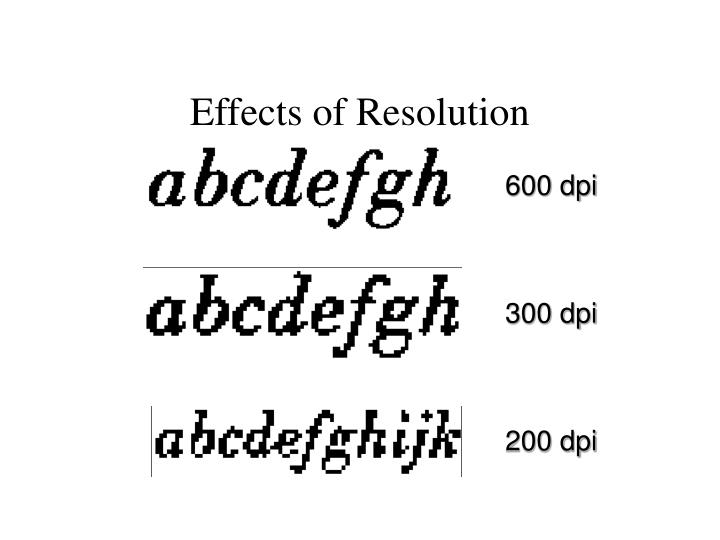 Effects of Resolution