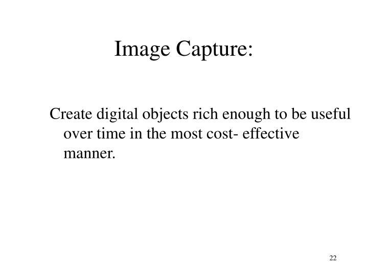 Image Capture: