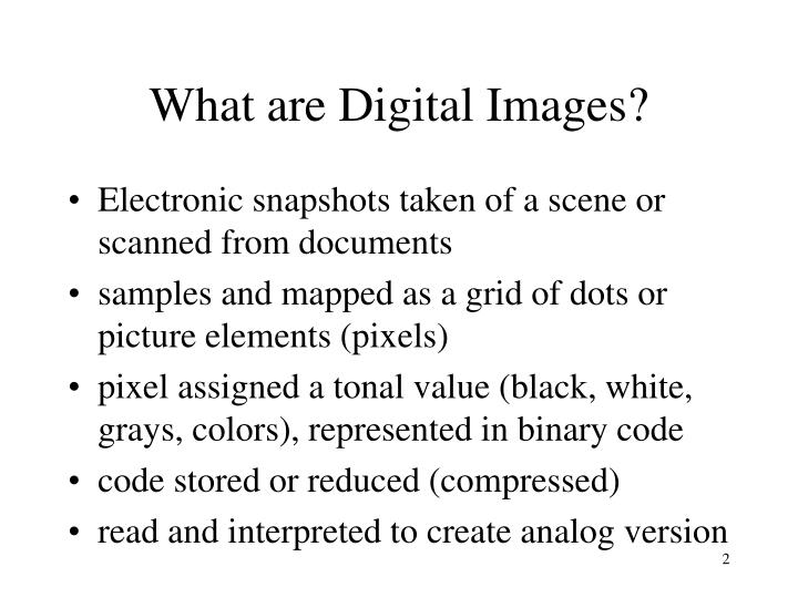 What are digital images