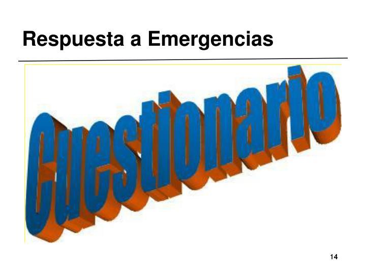 Respuesta a Emergencias