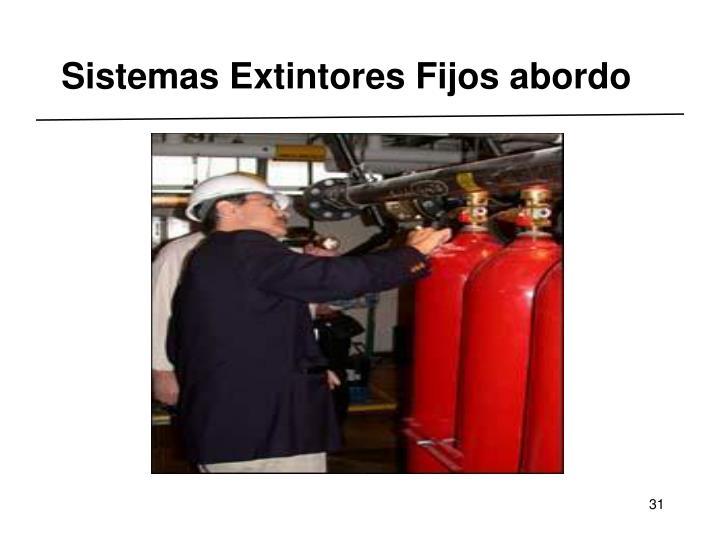 Sistemas Extintores Fijos abordo