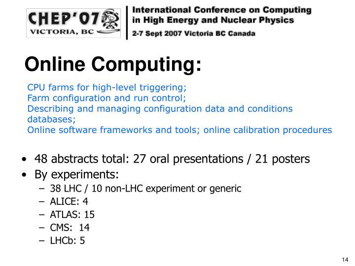 Online Computing: