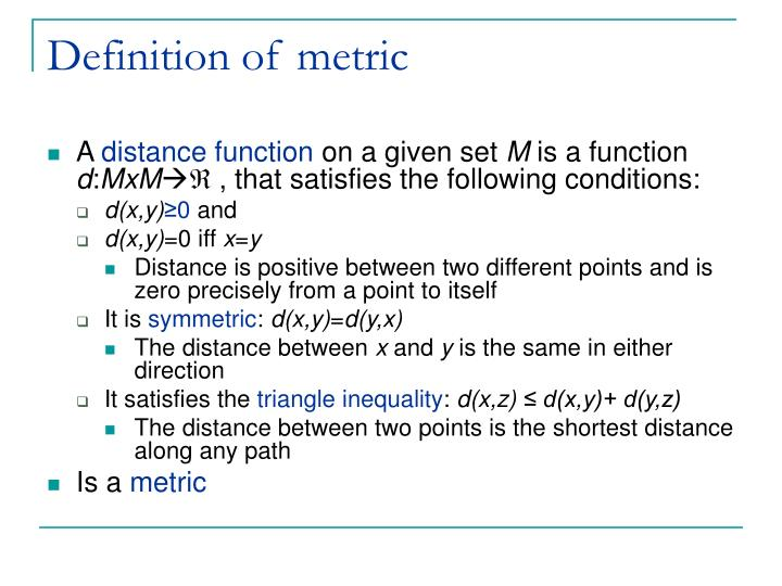 Definition of metric