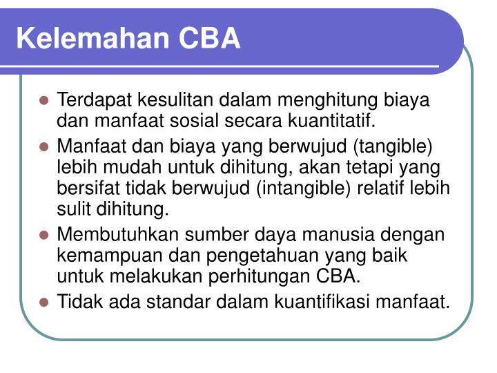Kelemahan CBA