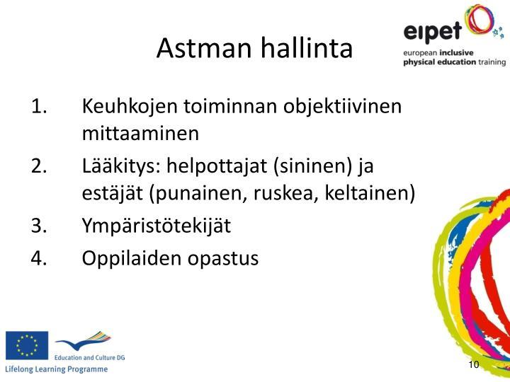 Astman hallinta