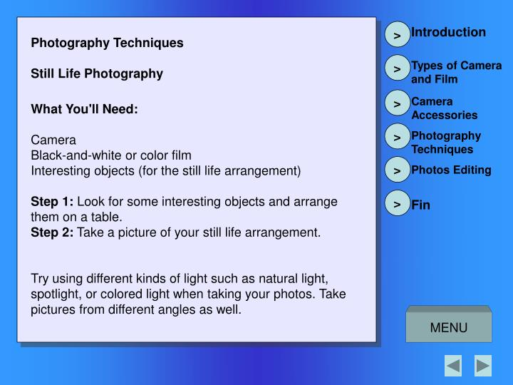 Photography Techniques