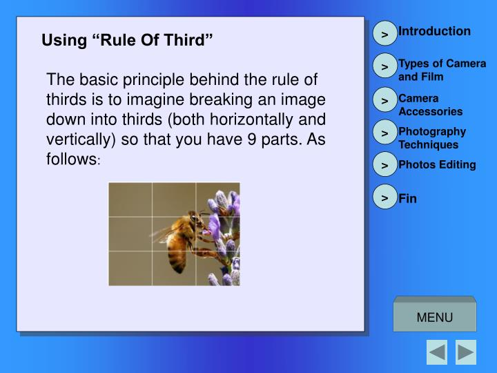 "Using ""Rule Of Third"""