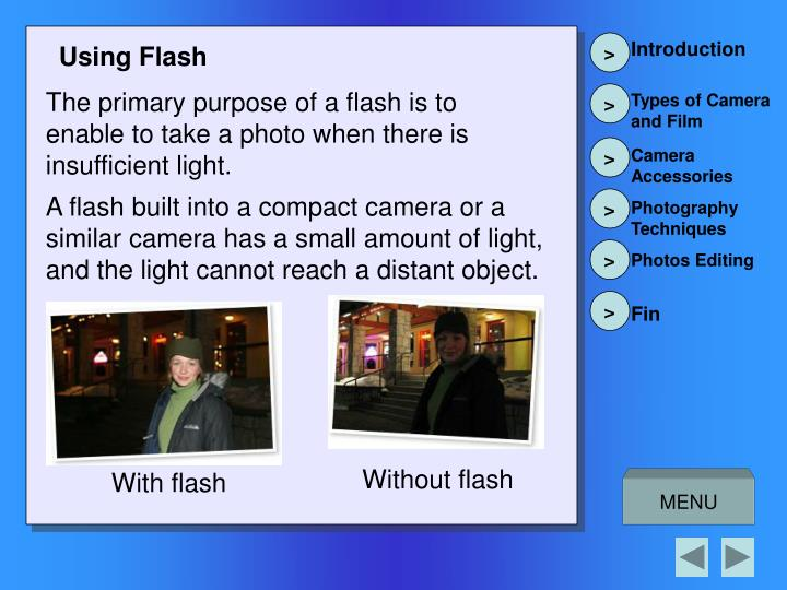Using Flash
