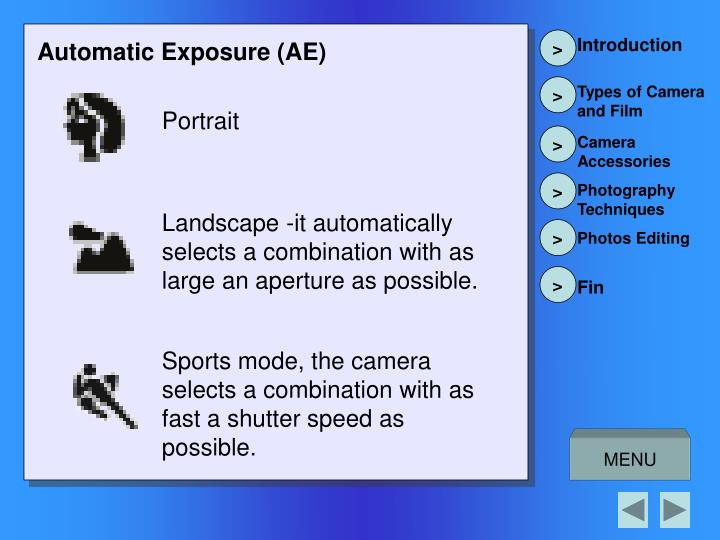 Automatic Exposure (AE)