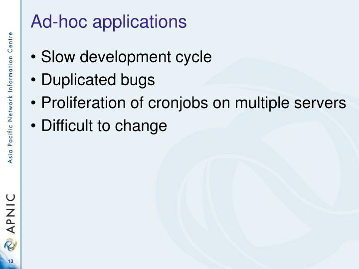 Ad-hoc applications
