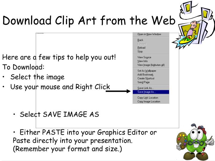 Download Clip Art from the Web