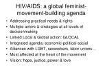 hiv aids a global feminist movement building agenda
