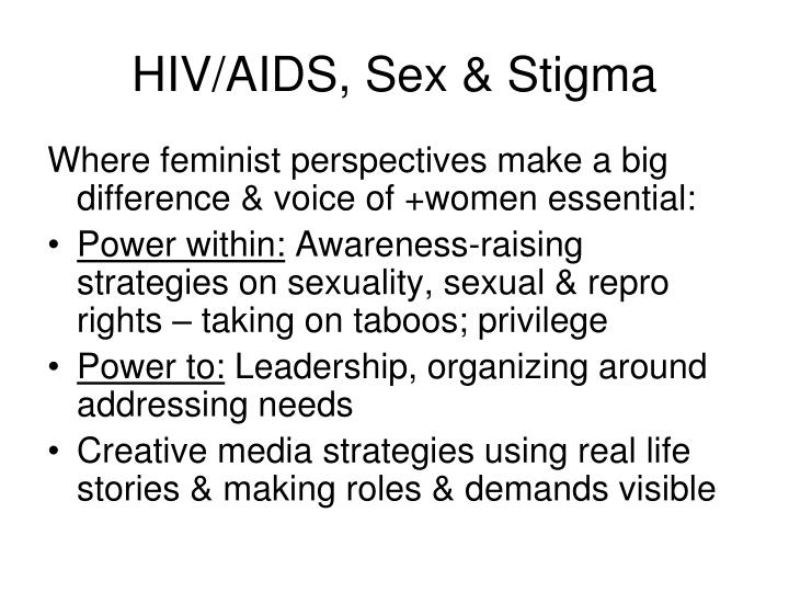 HIV/AIDS, Sex & Stigma