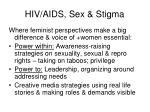 hiv aids sex stigma