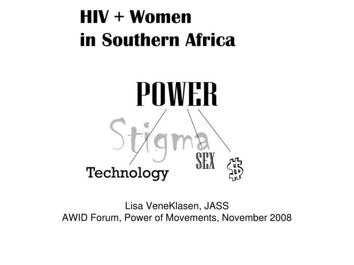 Lisa veneklasen jass awid forum power of movements november 2008
