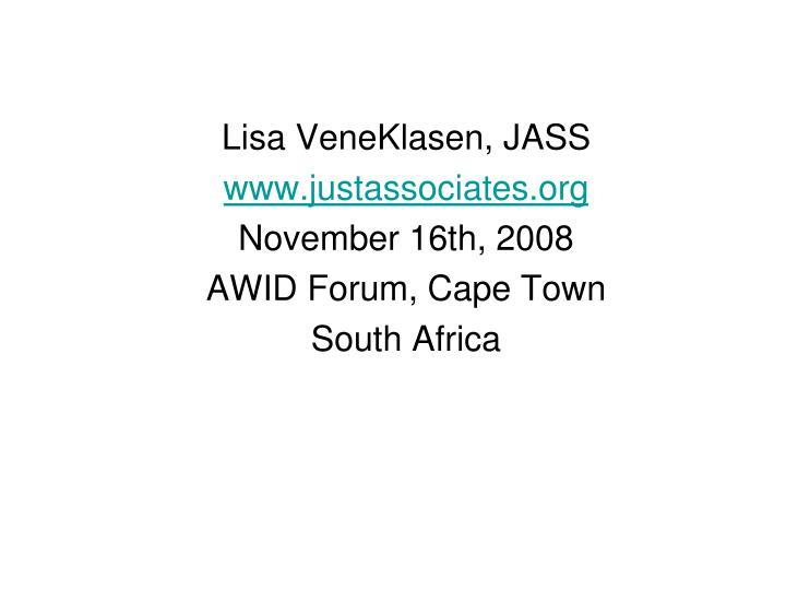 Lisa VeneKlasen, JASS