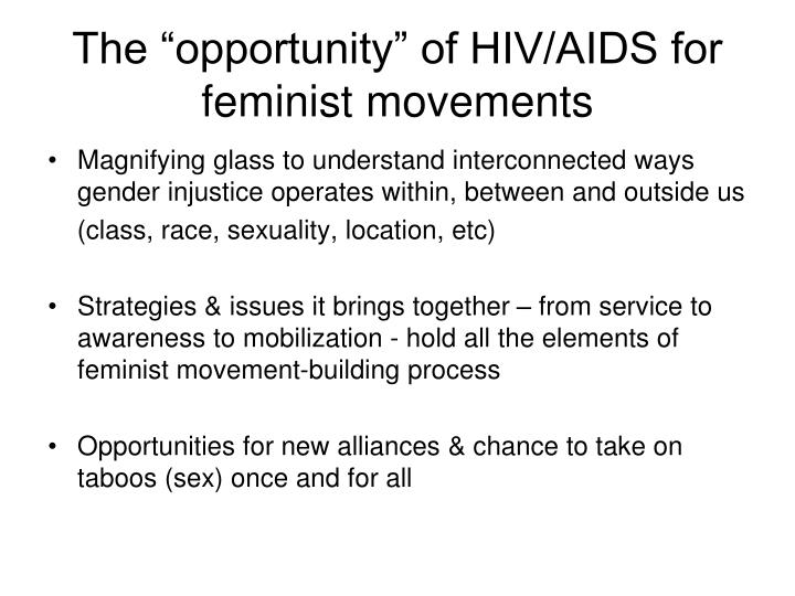 "The ""opportunity"" of HIV/AIDS for feminist movements"