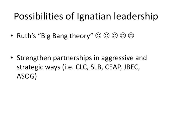 Possibilities of Ignatian leadership