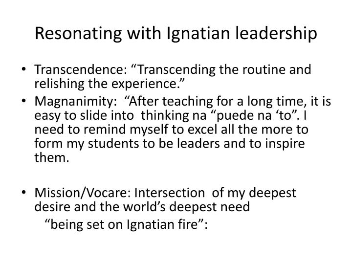 Resonating with ignatian leadership