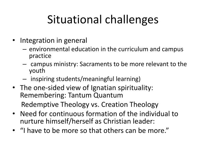 Situational challenges
