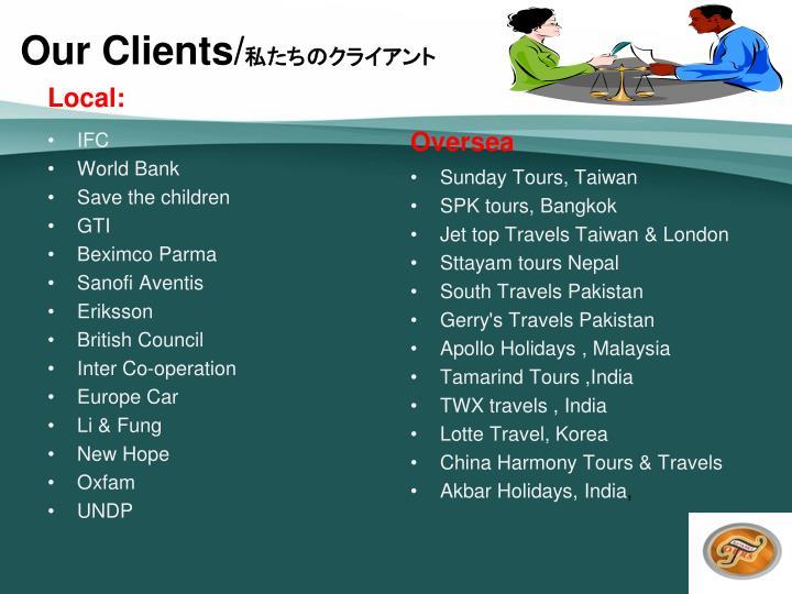 Our Clients/