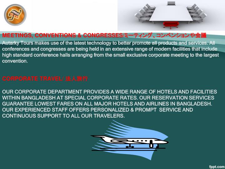 MEETINGS, CONVENTIONS & CONGRESSES/