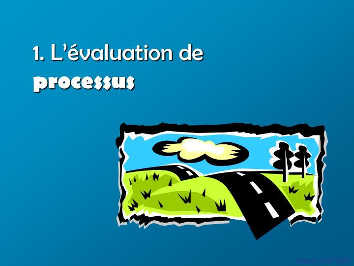 1. L'évaluation de