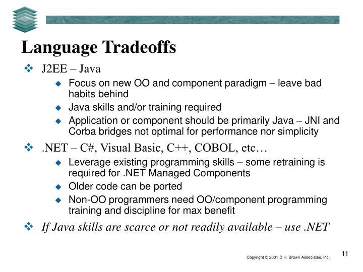 Language Tradeoffs