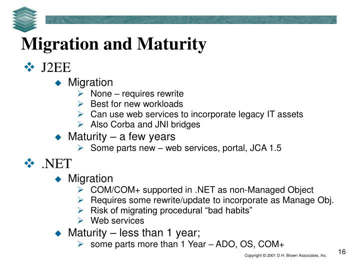 Migration and Maturity