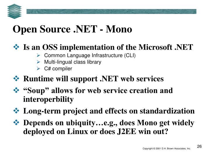 Open Source .NET - Mono