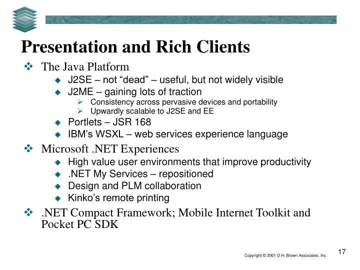 Presentation and Rich Clients