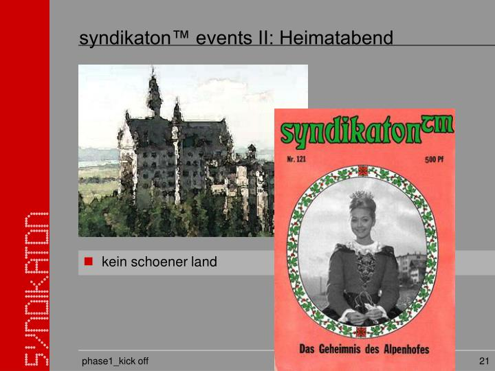 syndikaton™ events II: Heimatabend