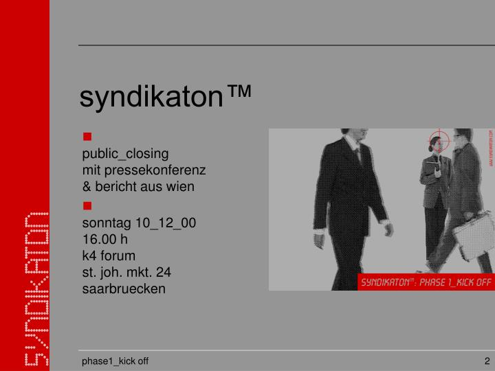 syndikaton™