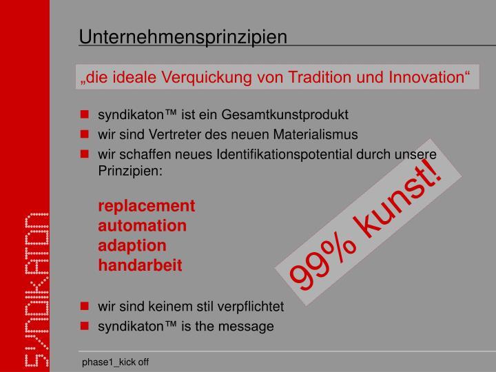 Unternehmensprinzipien