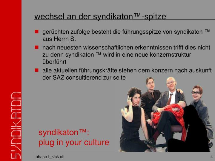 wechsel an der syndikaton™-spitze