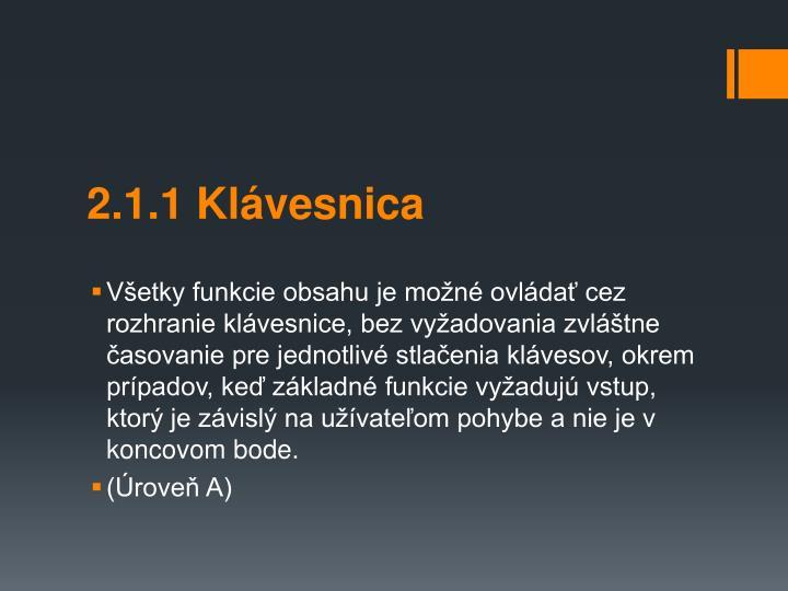 2.1.1 Klvesnica