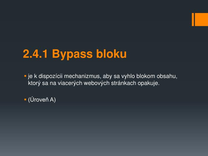 2.4.1 Bypass bloku
