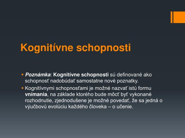 Kognitvne