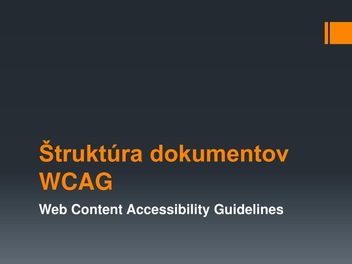truktra dokumentov WCAG