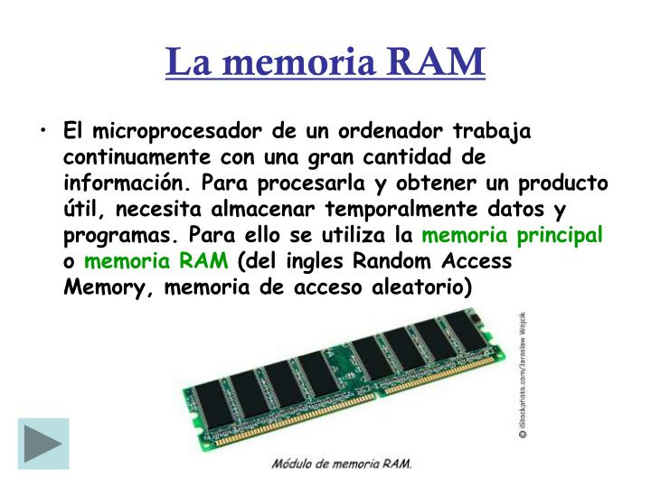 La memoria RAM