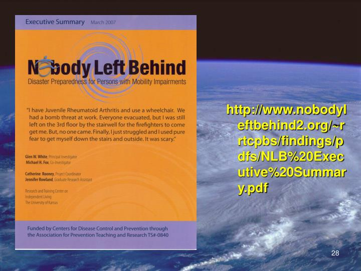 http://www.nobodyleftbehind2.org/~rrtcpbs/findings/pdfs/NLB%20Executive%20Summary.pdf