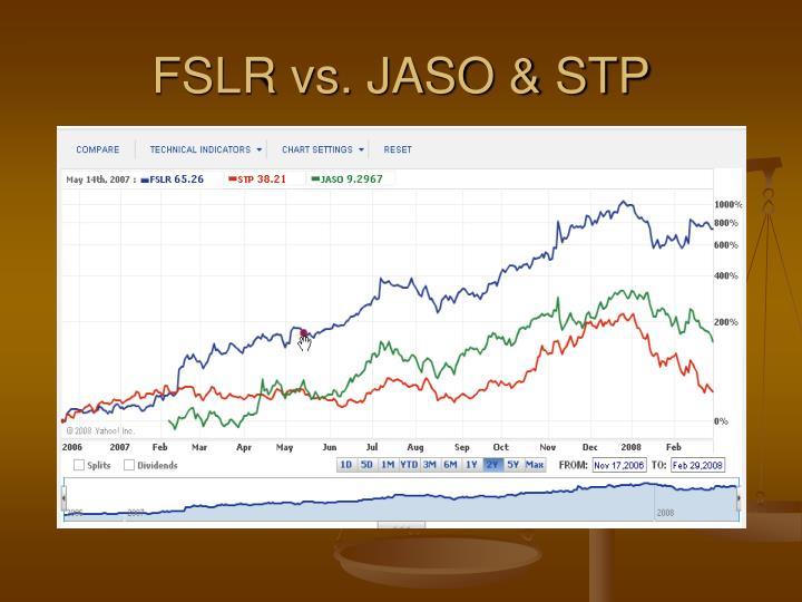 FSLR vs. JASO & STP