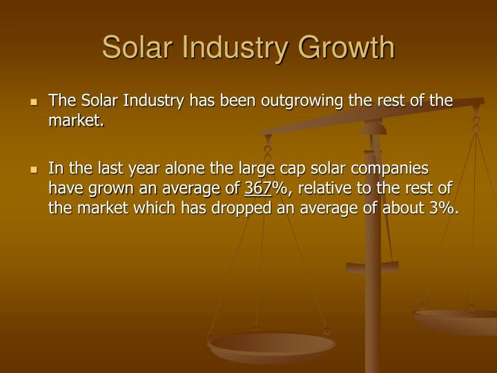 Solar Industry Growth